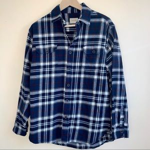 Jachs Blue Flannel Shirt